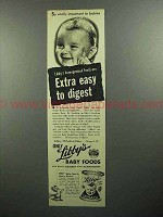 1945 Libby's Baby Food Ad - So Vitally Important