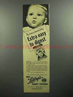 1945 Libby's Baby Food Ad - My Tummy Cheers