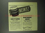 1945 Guittard Chocolate Ad - News!