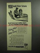 1946 Postum Drink Mix Ad - You Hold Their Future