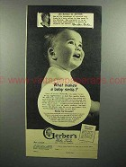 1946 Gerber's Baby Food Ad - What Makes A Smile?