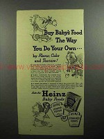 1946 Heinz Baby Food Ad - Buy The Way You Do Your Own
