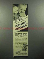 1946 Libby's Baby Food Ad - Extra-Ready Nourishment