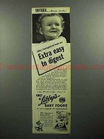 1946 Libby's Baby Food Ad - Extra Easy to Digest