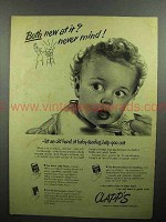 1946 Clapp's Baby Food Ad - Both New At It?