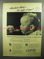 1946 Clapp's Baby Food Ad - Amateur Hour For Both?
