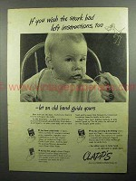1946 Clapp's Baby Food Ad - Wish Stork had Instructions