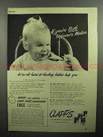 1946 Clapp's Baby Food Ad - If You're Both Beginners