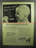 1946 Clapp's Baby Food Ad - Mother Doesn't Know Best