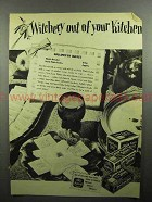 1946 Nabisco Snow Flake Sodas Cracker Ad - Witchery