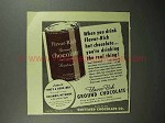 1946 Guittard Flavor-rich Ground Chocolate Ad - Drink!