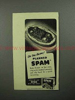 1946 Hormel SPAM Ad - On the Beam, Planked