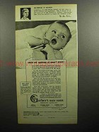 1947 Gerber's Baby Food Ad - Catch me Napping at Noon