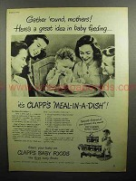 1947 Clapp's Baby Food Ad - Gather 'Round Mothers