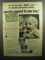 1947 Swift's Meats Baby Food Ad - Specially Prepared