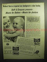 1947 Swift's Meats Baby Food Ad - for Babies, Juniors