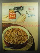 1947 Van Camp's Beans Ad - The Take-it-easy Way