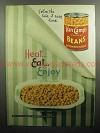 1947 Van Camp's Beans Ad - The Take-it-Easy Line