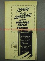1948 Guittard Chocolate Ad - Whipped Cream Flavor