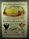 1951 Jell-O Pudding Ad - Lemon Pies Taste Homemade!