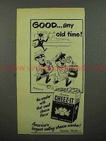 1951 Sunshine Cheez-it Crackers Ad - Good Any Old Time