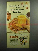 1952 Birds Eye Orange Juice Ad - American Breakfast