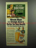 1952 Minute Maid Orange Juice Ad - Ask Your Doctor!