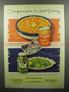 1952 Van Camp's Pork and Beans, Stokely's Pickles Ad