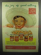 1952 Van Camp's Chili Con Carne, Tamales, Beans Ad