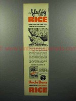 1952 Uncle Ben's Converted Long Grain Rice Ad - Fluffy