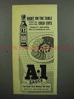 1952 A-1 Sauce Ad - Right on the Table