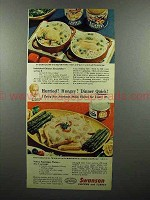 1953 Swanson Chicken & Turkey Ad - Hungry?
