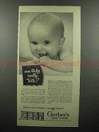 1953 Gerber's Baby Food Ad - Can Baby Really Taste?
