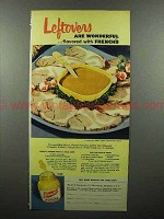 1953 French's Mustard Ad - Leftovers are Wonderful!