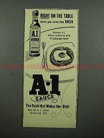 1953 A-1 Sauce Ad - When You Serve Him Hash!
