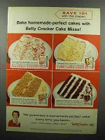 1959 Betty Crocker Cake Mixes Ad - Homemade-Perfect