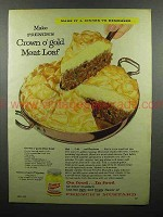 1959 French's Mustard Ad - Crown O'Gold Meat Loaf