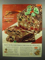 1960 Betty Crocker Date Bar Mix Ad - Quickest Fruitcake
