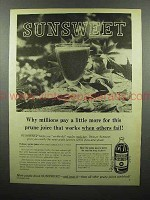 1960 Sunsweet Prune Juice Ad - Millions Pay More