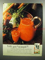 1960 V-8 Vegetable Juice Ad - V-8's Got Oomph!