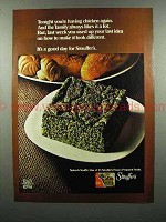1972 Stouffer's Spinach Souffle Frozen Food Ad