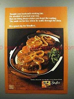 1972 Stouffer's Salisbury Steak Frozen Food Ad