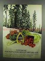 1972 Wish-Bone Italian Dressing Ad - People Like Salads