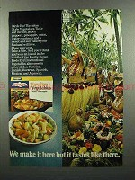 1972 Birds Eye Hawaiian Vegetables with Pineapple Ad