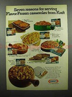 1972 Kraft Flavor-Frozen Casserole Ad - 7 Reasons