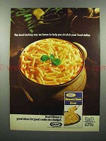 1972 Kraft Macaroni & Cheese Dinner Ad - Stretch Dollar
