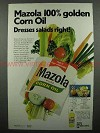 1972 Mazola Corn Oil Ad - Dresses Salads Right!