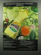 1973 Wesson Vegetable Oil Ad - Homemade Dressing