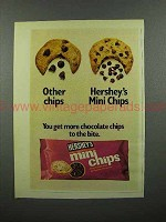 1973 Hershey's Mini Chips Chocolate Chips Ad