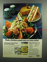 1974 Swanson Boned Chicken & Kraft Mayonnaise Ad
